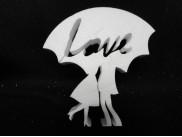 """Заготовка для творчества """"Пара под зонтом"""" h20см; w3см (1шт)"""