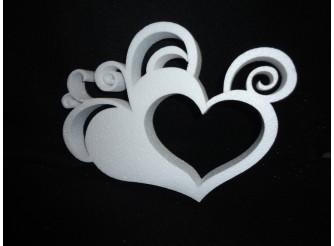"""Заготовка для творчества """"Любовный взрыв""""/сердце h22см; w3см  (1шт)"""