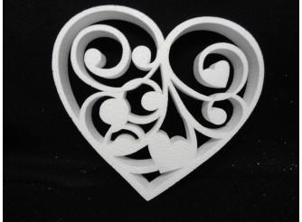 """Заготовка для творчества """"Женские мысли"""" сердце- контур Ø25, h3см (1шт)"""
