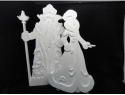 Дед Мороз, Снегурочка - заготовки из пенопласта