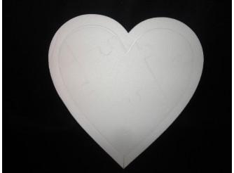"Заготовка  из пенопласта ""Сердце-Пазл "" Ø 45, w4 (1шт)"