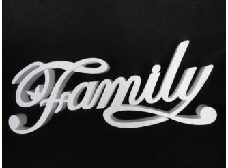 """Буквы  из пенопласта """"Family"""" с бабочкой/слитно/ h24, w3см, L58см (1шт)"""