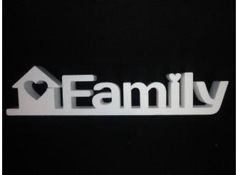 """Буквы  из пенопласта """"Family"""" с домиком/слитно/ h14, w3см, L58см (1шт)"""