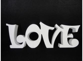 """Буквы из пенопласта """"LOVE"""" В3/ слитно h20см; L50см; w5см(1шт)"""