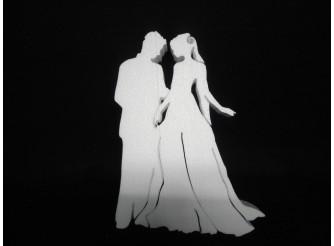 """Заготовка для творчества """"Жених и невеста"""" h30см; w3см (1шт)"""