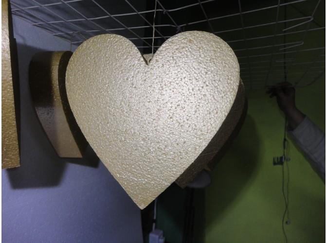 """Заготовка из пенопласта """"Сердце плоское"""" Ø30/5см (1шт)"""