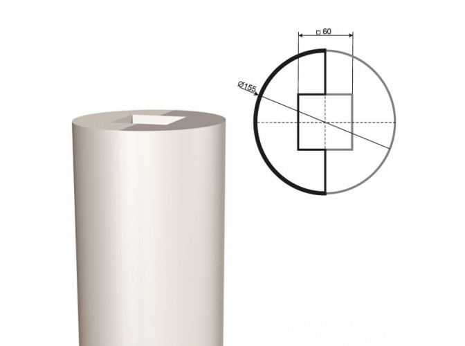 Ствол колонны из пенопласта КЛ-001 400 х1000мм