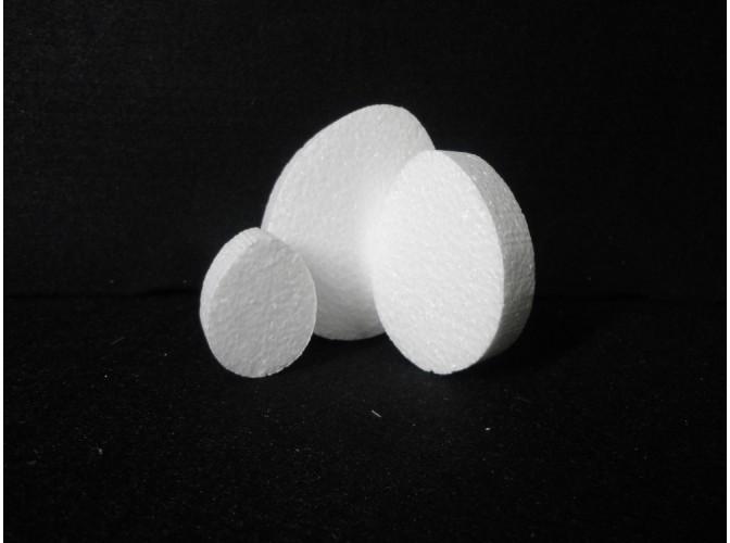 Яйцо из пенопласта - плоская заготовка  (набор 10шт)
