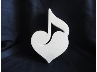 """Заготовка для творчества """"Музыкальное сердце"""" h20см; w2см (1шт)"""