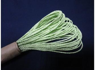 Веревка флористическая бумажная / салатовая 2мм*27м (1шт)