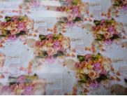 """Бумага подарочная №63 """"Розовое счастье""""  (70х100 см) 5 листов"""