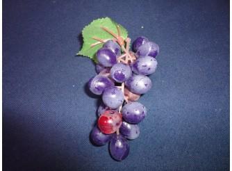 Виноград: 12см/ круглый синий  (1шт)