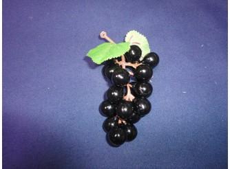 Виноград: 12см/ круглый черный  (1шт)