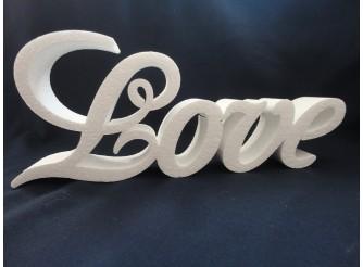 """Буквы из пенопласта """"LOVE"""" В4 /слитно h20см; L50см; w5см (1 шт)"""