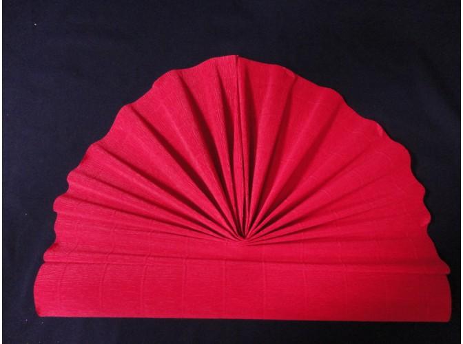 Гофрированная бумага №580/красный/ 50х250см (1рулон)