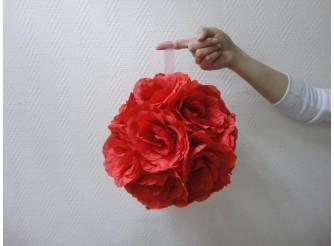 """Деко- шар """"Красные розы"""" Ø25 см (1шт)"""