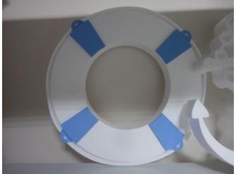 """Декор из пенопласта """"Спасательный круг"""" d50 (1шт)"""