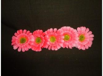 "Цветочная головка ""Гербера розовая"" /ткань/ Ø12см (5шт)"
