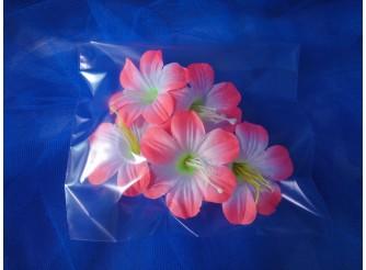 """Цветочная головка  """"Клематис бело- розовый""""/ткань/ Ø 9 см (5шт)"""