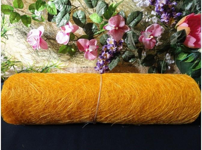 Сизалевое полотно, цвет желтый 48х9ярд (1рулон)