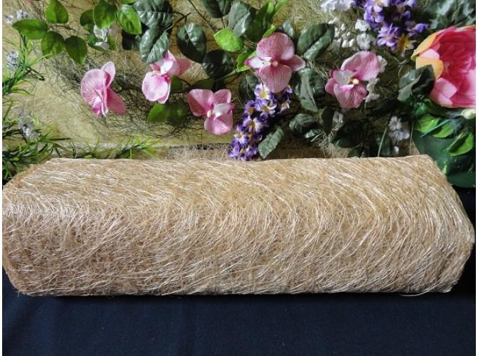 Сизалевое полотно, цвет натуральный 48х9ярд(1рулон)