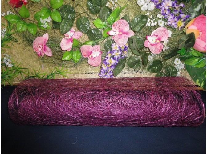 Сизалевое полотно цвет фиолетовый 48х9м (1рулон)