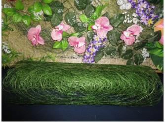Сизалевое полотно, цвет зеленый 48х9ярд(1рулон)