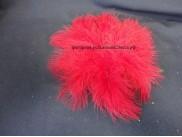 Перья марабу красные 12-15 см (5шт)