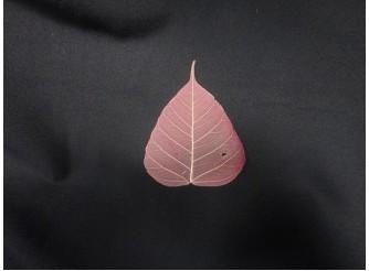 Скелетированный лист розовый круглый (5шт)