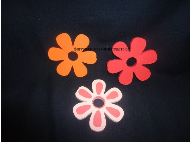"Заготовка для творчества ""Цветок незабудки"" Ø12см, h1см (набор 3шт)"