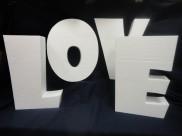"""Буквы из пенопласта """"LOVE"""" h50см (1 комплект)"""