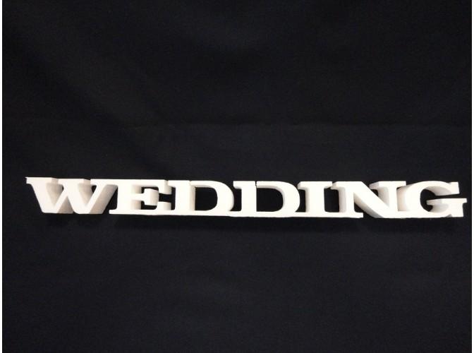 """Буквы  из пенопласта """"WEDDING"""" /слитно/h5см, w2см (1шт)"""
