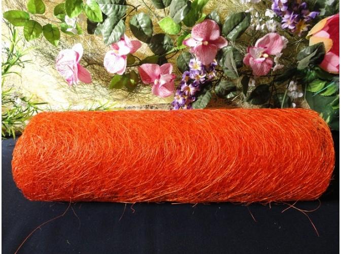Сизалевое полотно, цвет оранжевый 48х9м (1рулон)