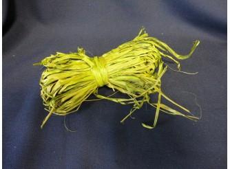Рафия натуральная, цвет оливковый, 25гр (1шт)