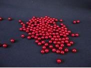 Бусинки 8мм/ перламутровые красные (20гр)