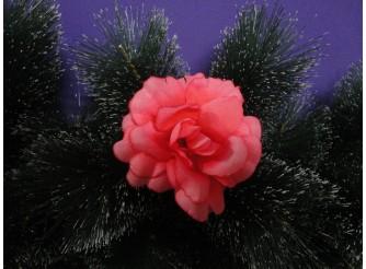 "Цветочная головка роза ""Барби"" розовая Ø9,5см (1шт)"