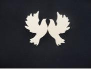 """Заготовка из пенопласта """"Пара голубей"""" h6см (набор 5 пар)"""