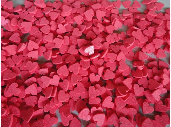 """Набор из пенопласта """"Красные сердечки"""" Ø5см (набор 20шт)"""