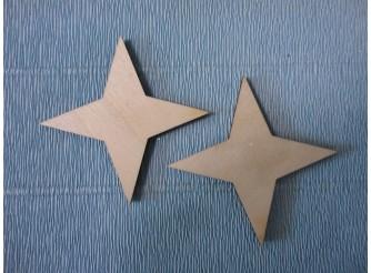 """Заготовка деревянная """"Полярная звезда"""" h5см (набор 2шт)"""
