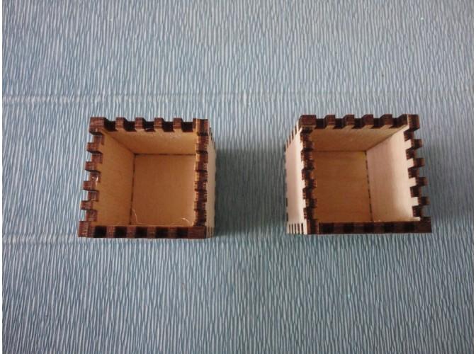 Коробочка - мини/ h3 см/фанера (1шт)