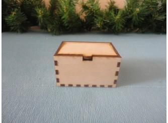 Коробочка с крышкой №1/ 7 х 5 х 4см/фанера 3 мм (1шт)