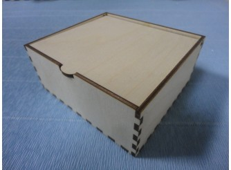 Коробочка с крышкой №2/ 11 х 8 х 4см/фанера (1шт)