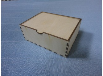 Коробочка с крышкой №3 / 11 х 10 х 4,5см/фанера 3 мм (1шт)