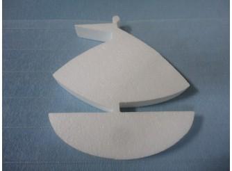 """Заготовка из пенопласта """"Кораблик"""" h 25см; w3см (1шт)"""