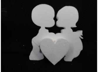 """Заготовка для творчества """"Первая любовь"""" h15см/сердце - рельеф(1шт)"""