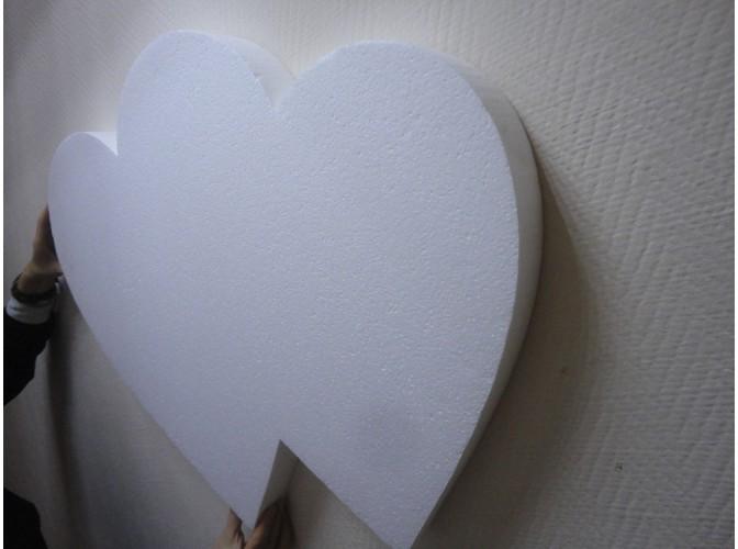 """Заготовка для творчества """"Сердце  двойное сплошное"""" h55/5см (1шт)"""