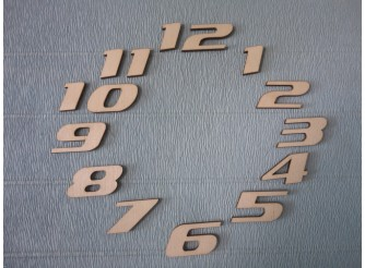 Арабские цифры для часов №11/фанера (комплект)