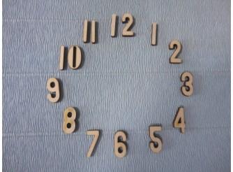 Арабские цифры для часов №8/фанера (комплект)