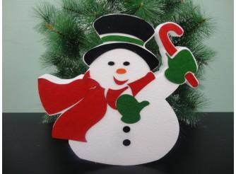 """Декор из пенопласта """"Приветливый Снеговик"""" h30см (1шт)"""