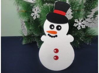 """Декор из пенопласта """"Снеговик в шляпе"""" h30см (1шт)"""